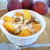 Peach Crisp Yogurt Cup