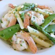 Penne with Shrimp & Spring Veggies (Gluten-Free Option)