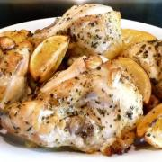 Lemon-Garlic Roasted Chicken (GF)