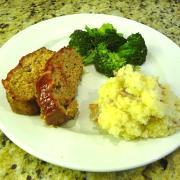 Turkey-Veggie Meatloaf (GF Option)