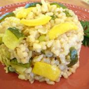 Summer Veggies Brown Rice Risotto (Gluten-Free)