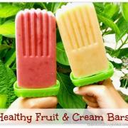 Healthy Fruit & Cream Bars!