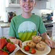 Strawberry Shortcake Muffins (GF, DF Option)
