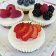 No Bake Mini-Cheesecakes (GF)