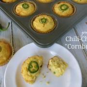 "grain-free Chile-Cheese ""Cornbread"" Muffins"