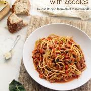 Turkey Bolognese with Zoodles {Special Guest Recipe}