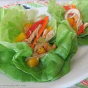 Mango Chicken Lettuce Wraps from