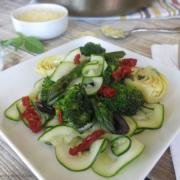 Veggie Sauté with Zoodle Ribbons {Recipe Makeover: Grain-Free, Whole30}