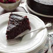 Grain-Free Chocolate Cake with Fudge Icing