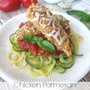 Baked Chicken Parmesan with Zoodles (GF)