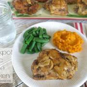 Garlic Thyme Chicken {Slow Cooker Recipe}