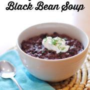 Easy Crockpot Black Bean Soup (GF, DF)