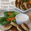 Savory Chicken & Veggie Bites