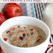 Cinnamon Apple Grain-Free Breakfast Porridge (Dairy-Free too!)