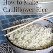 How to Make Simple Seasoned Cauliflower Rice