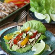 Slow Cooker Chicken Verde with Peppers