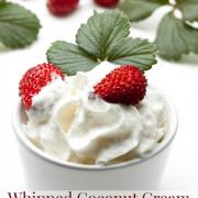 Dairy-Free Whipped Coconut Cream {Simple & Delicious}
