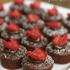 Chocolate Dipped Raspberry Brownie Bites (GF, DF option)