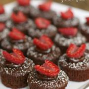 Chocolate Dipped Raspberry Brownie Bites (GF, DF option)
