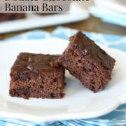 Double Chocolate Banana Bars
