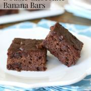 Double Chocolate Banana Bars