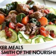 Slow Cooker Italian Beef & Swiss Chard Ragu {Plus, Bonus Soup Recipe}