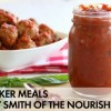 Slow Cooker Meatballs with Zesty Marinara Sauce {Whole30 Guest Post}