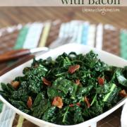 Sautéed Greens with Bacon {Whole30}