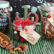Spiced Holiday Nuts {Easy & Delicious Homemade Gift-in-a-Jar}