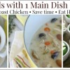 3 Meals with 1 Main Dish: Slow Cooker Roast Chicken