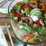 Grilled Fajita Salad {Whole30, DF, GF}