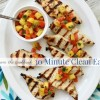 Grilled Chicken with Pineapple Salsa {30 Minute Clean Eats on a Budget}