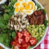 Strawberry Cobb Salad with Balsamic Lime Vinaigrette {Whole30}