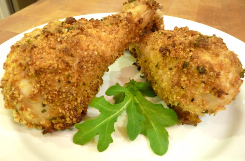 Oven Baked Fried Chicken (GF Option) - The Nourishing Home