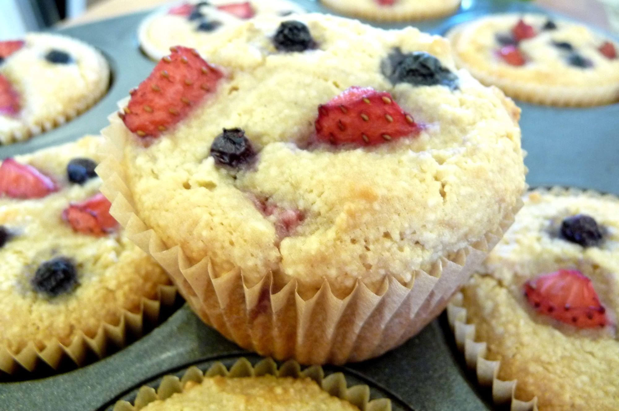 Mixed Berry Muffins (GF)