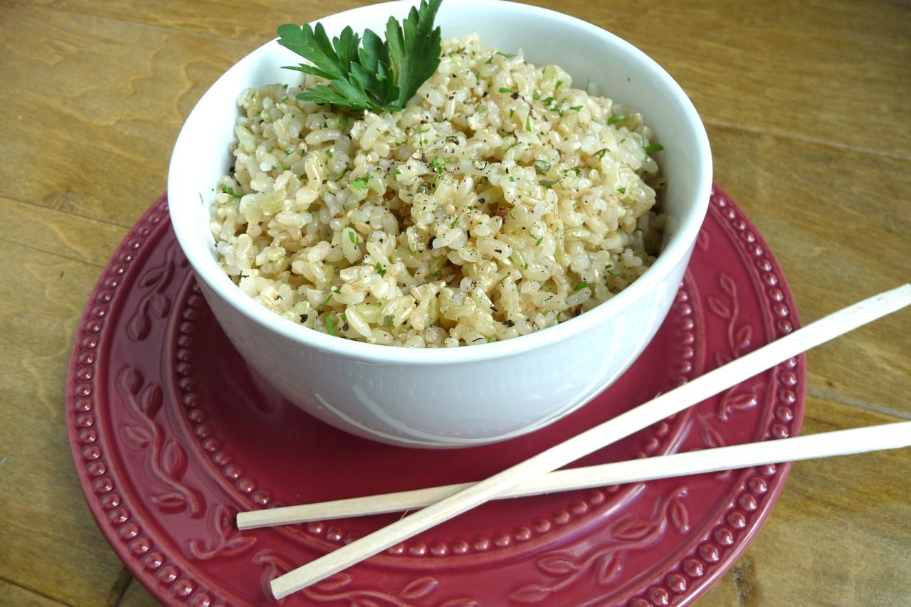 Buttery-Herbed Brown Rice