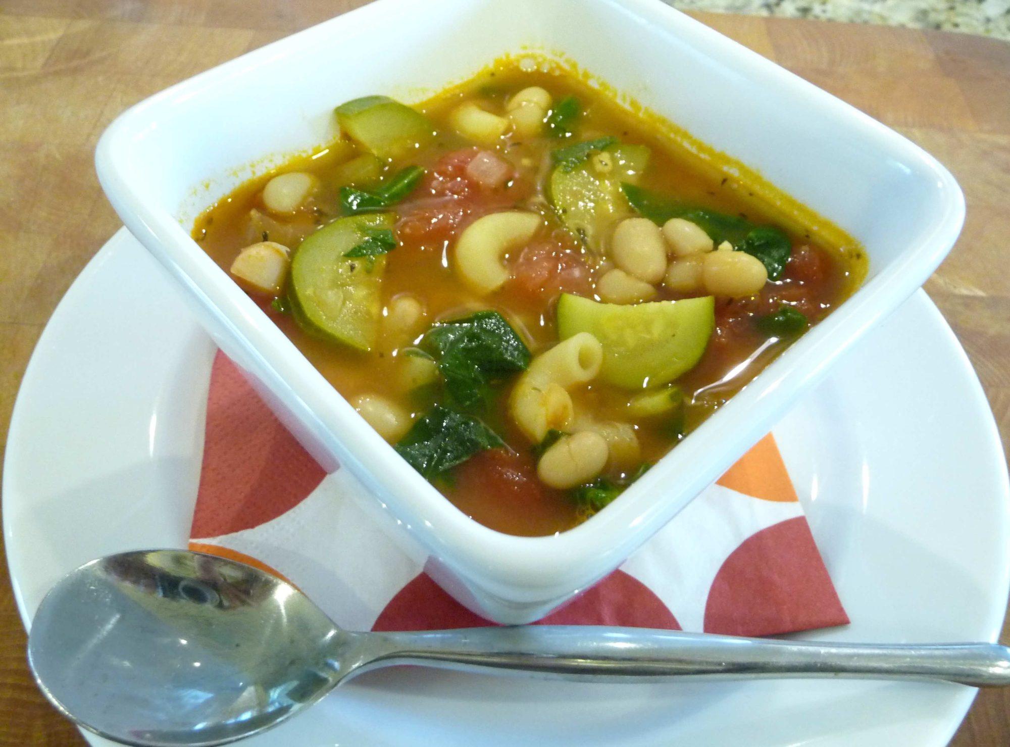Hearty Minestrone Soup (Grain-Free option)