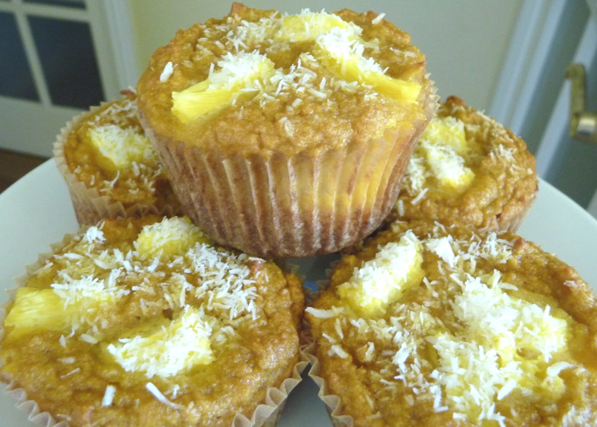 Coconut Pineapple Muffins Recipe — Dishmaps