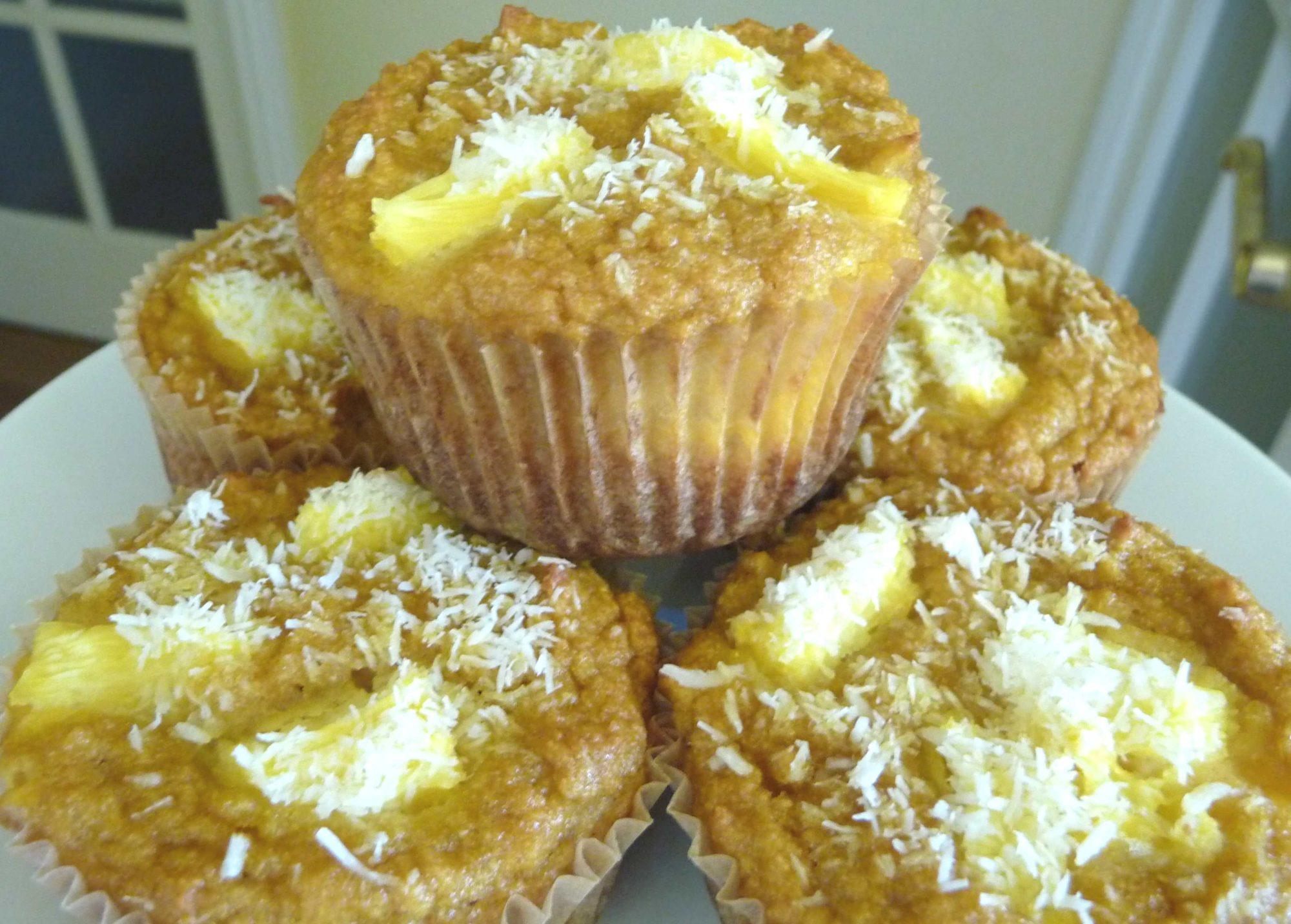 Pineapple-Coconut Muffins (GF)