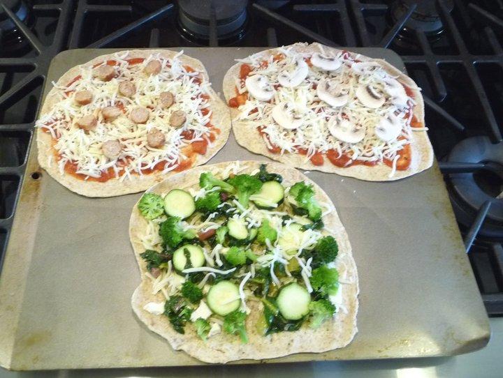 No Sauce Veggie Pizza