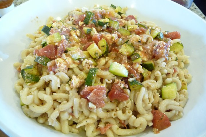 Zucchini-Feta Pasta (Gluten-Free Option)