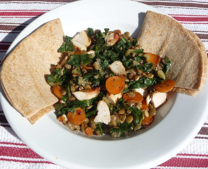 Lentils & Carrots with Swiss Chard (GF) - The Nourishing Home