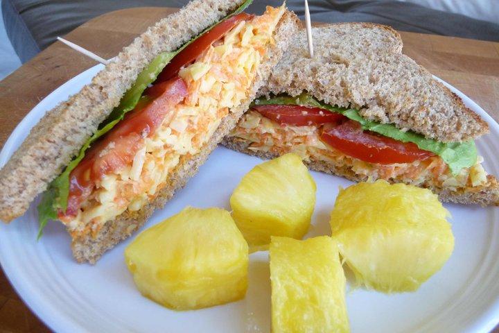 Carrot-Cheddar Sandwich
