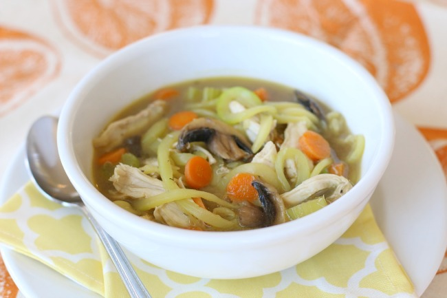 Chicken Zoodle Soup Made with Love