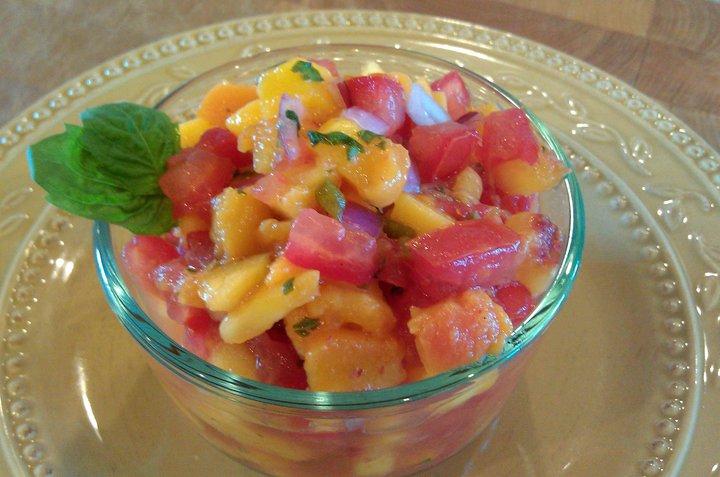 Peach Mango Salsa (GF)