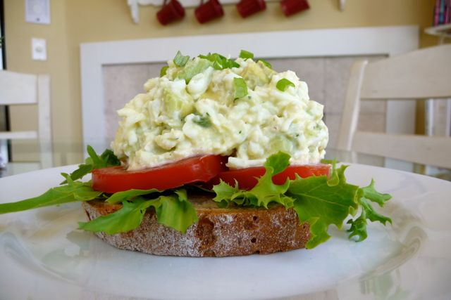 ... eggs combine scrumptiously to create a creamy cultured egg salad that