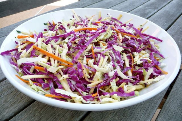 Apple-Carrot (& cabbage) Coleslaw (GF)