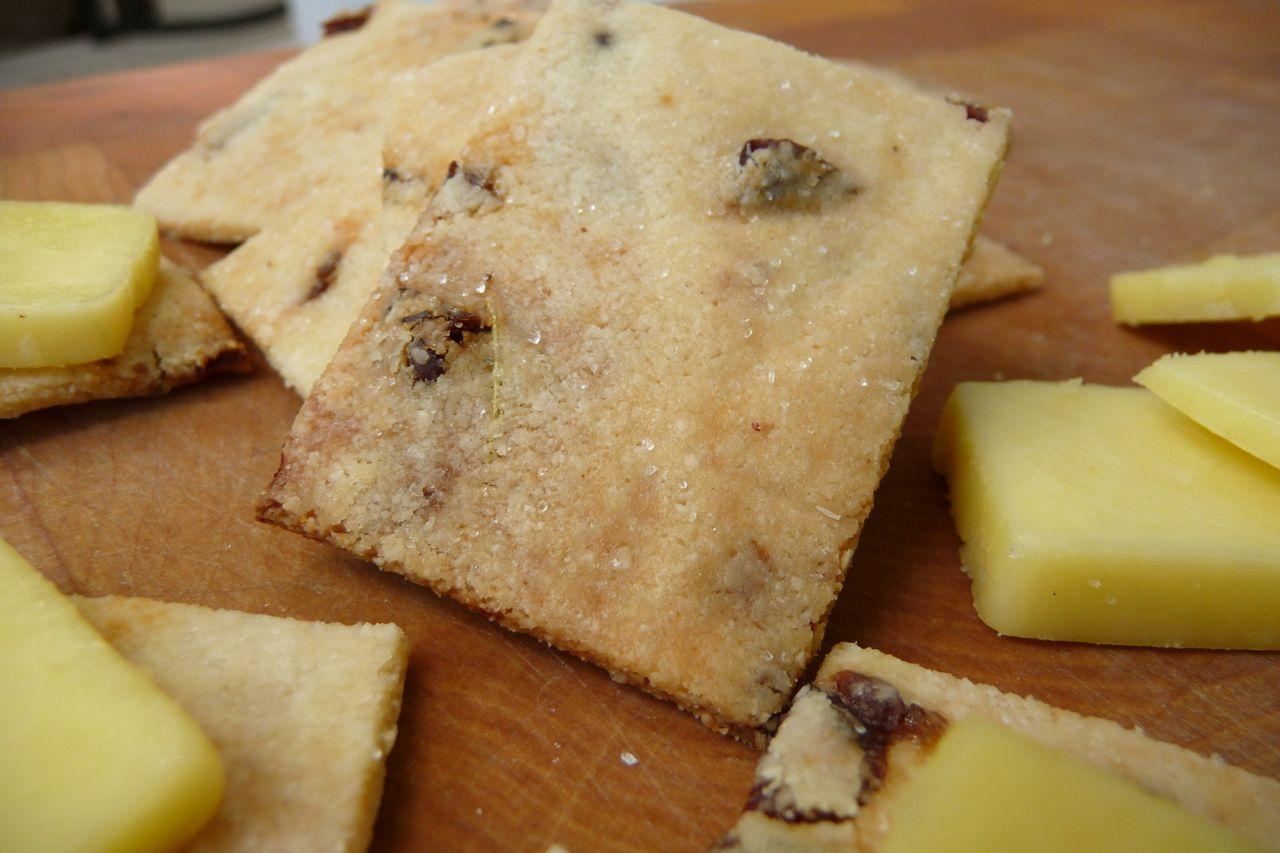 Grain-Free Rosemary-Raisin Crackers