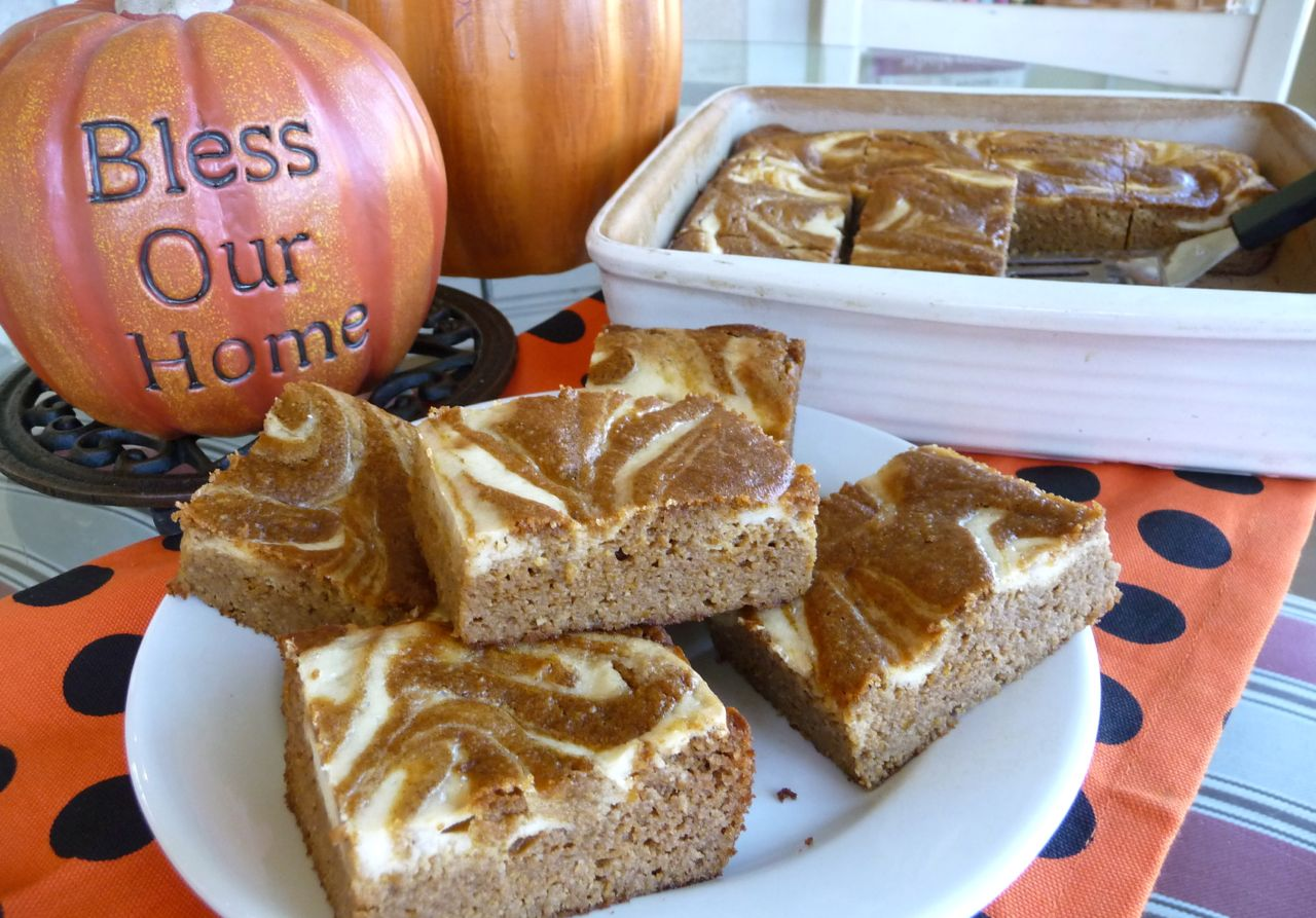 Pumpkin Swirl Bars (GF, DF option)