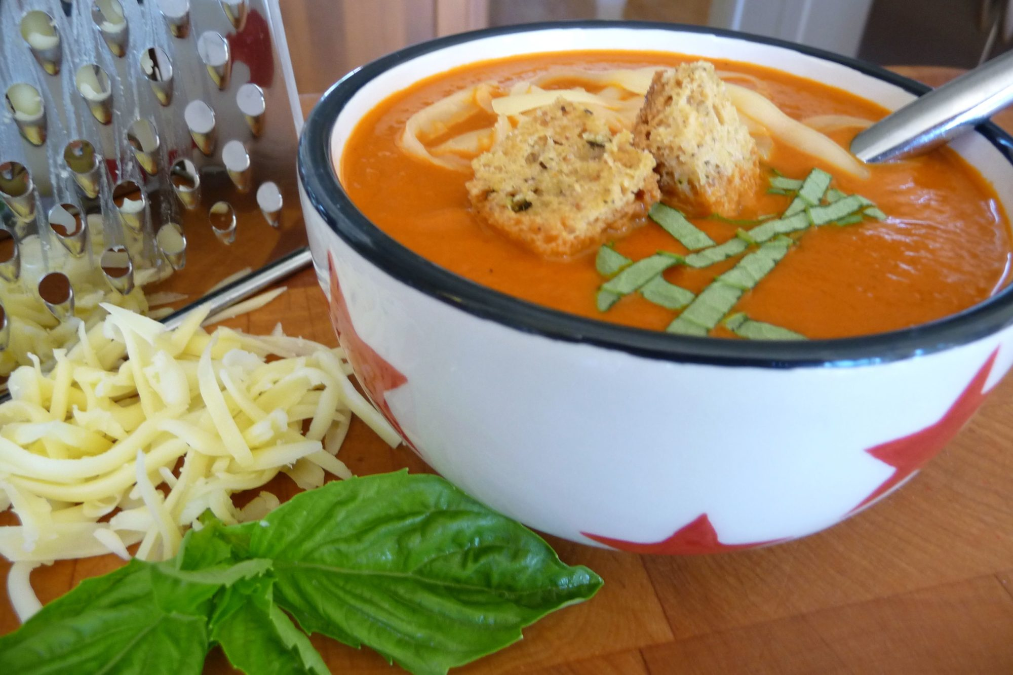 Creamy Tomato Soup with Garlic-Herb Croutons (GF, DF) - The Nourishing ...